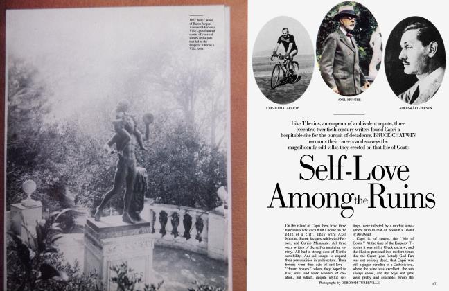 Article Preview: Self-Love Among the Ruins, April 1984 | Vanity Fair