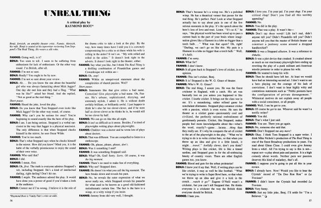 Article Preview: UNREAL THING, April 1984 1984 | Vanity Fair