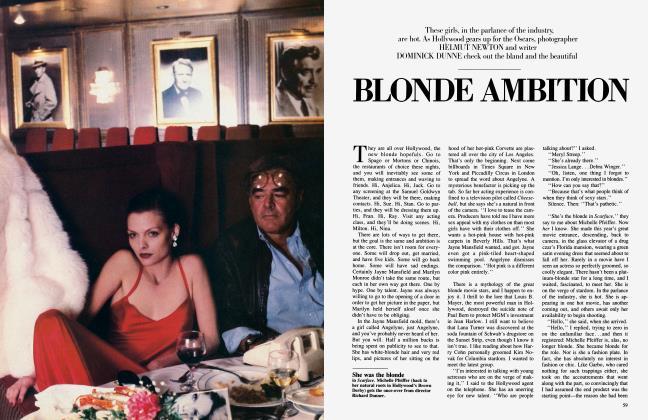 Article Preview: BLONDE AMBITION, April 1984 1984 | Vanity Fair
