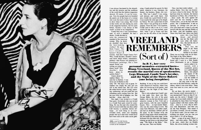 VREELAND REMEMBERS (Sort of)