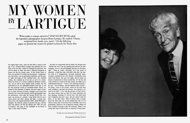 Article Preview: MY WOMEN BY LARTIGUE, April 1984 1984 | Vanity Fair