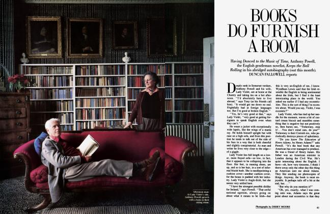 Article Preview: BOOKS DO FURNISH A ROOM, June 1984 | Vanity Fair