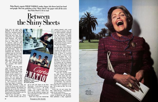 Article Preview: Between the Shiny Sheets, June 1984 1984 | Vanity Fair