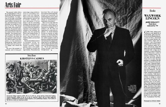 Article Preview: WAXWORK LINCOLN, June 1984 1984 | Vanity Fair