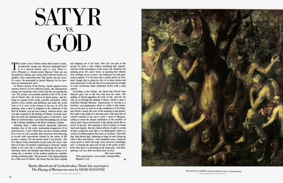 SATYR VS. GOD