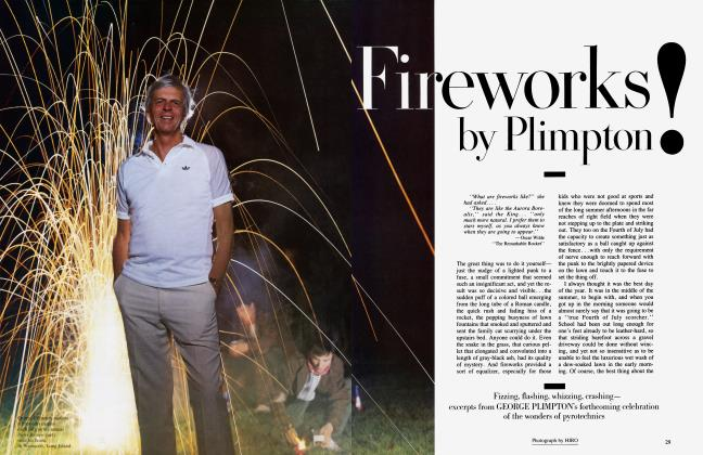 Article Preview: Fireworks by Plimpton!, July 1984 1984 | Vanity Fair
