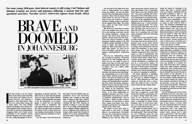 Article Preview: BRAVE AND DOOMED IN JOHANNESBURG, July 1984 | Vanity Fair