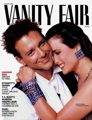 AUGUST 1984 | Vanity Fair