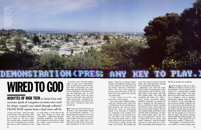 Article Preview: WIRED TO GOD, August 1984 | Vanity Fair