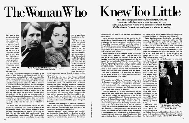 Article Preview: The Woman Who Knew Too Little, September 1984 1984 | Vanity Fair