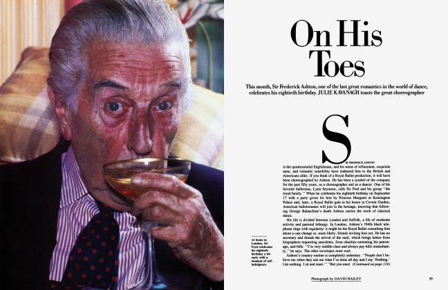 Article Preview: On His Toes, September 1984 1984   Vanity Fair