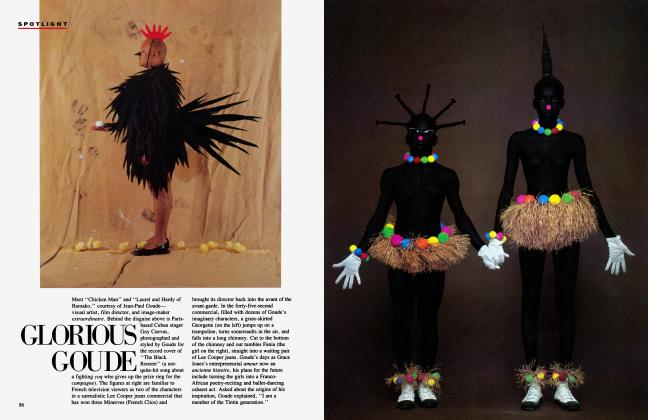 Article Preview: GLORIOUS GOUDE, September 1984 1984 | Vanity Fair