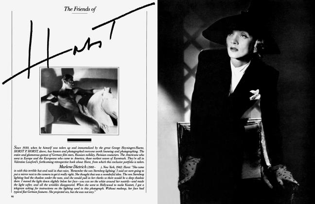Article Preview: The Friends of Horst, September 1984 1984 | Vanity Fair