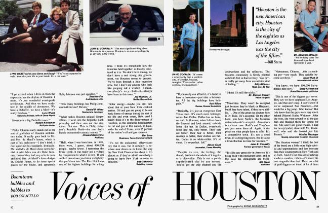 Article Preview: Voisces of HOUSTON, October 1984 1984 | Vanity Fair
