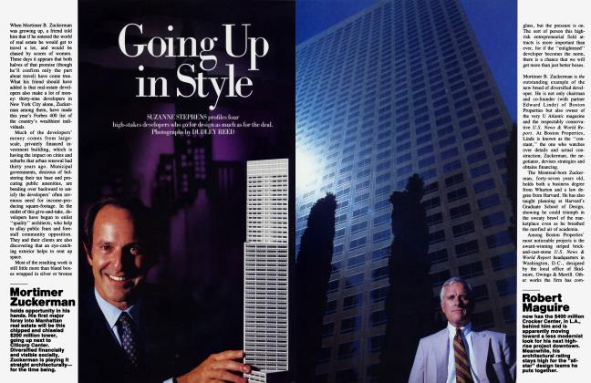 Article Preview: Going Up in Style, November 1984 1984   Vanity Fair