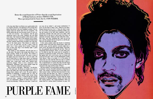 Article Preview: PURPLE FAME, November 1984 1984 | Vanity Fair