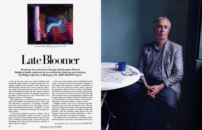 Article Preview: Late Bloomer, November 1984 | Vanity Fair