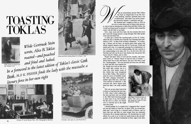 Article Preview: TOASTING TOKLAS, November 1984 1984 | Vanity Fair