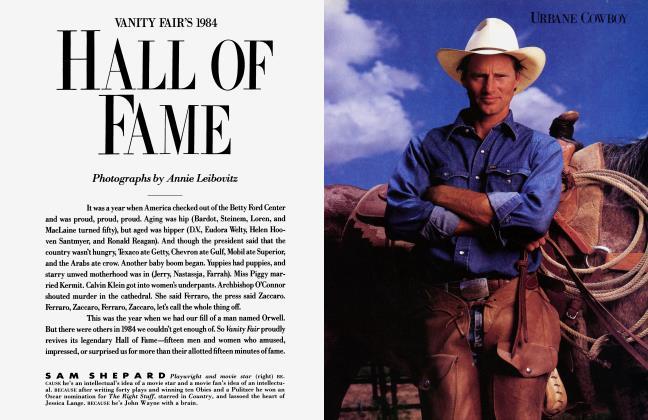 Article Preview: VANITY FAIR'S 1984 HALL OF FAME, December 1984 1984 | Vanity Fair