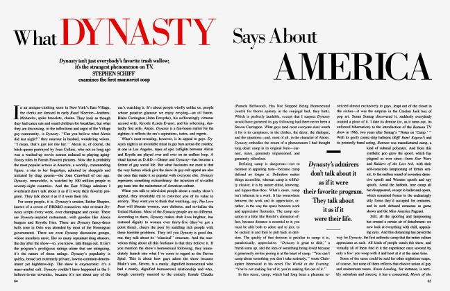 Article Preview: What DYNASTY Says About AMERICA, December 1984 1984 | Vanity Fair