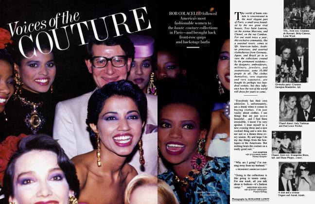 Article Preview: Voices of the COUTURE, December 1984 1984 | Vanity Fair