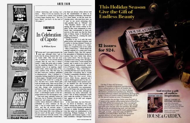 Article Preview: In Celebration of Capote, December 1984 1984 | Vanity Fair