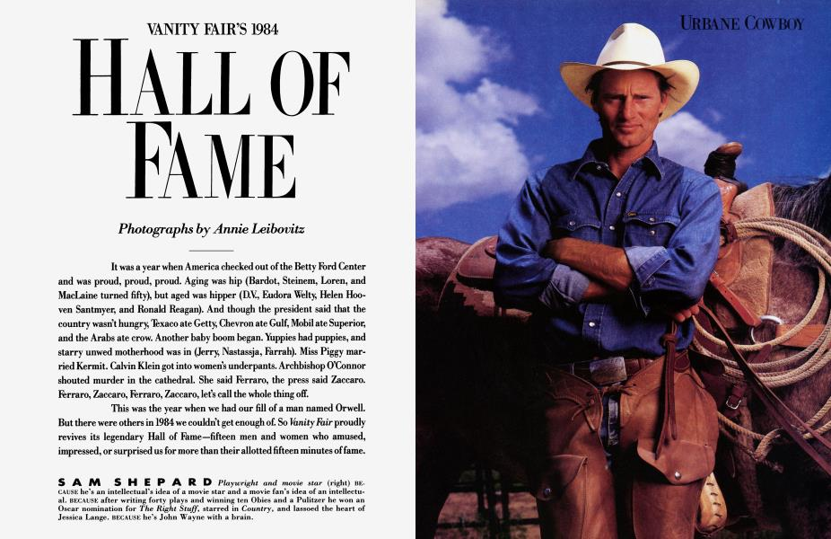 VANITY FAIR'S 1984 HALL OF FAME