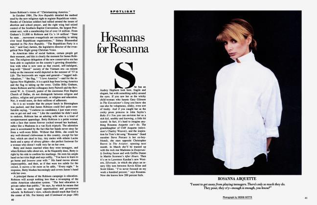 Article Preview: Hosannas for Rosanna, January 1985 1985 | Vanity Fair