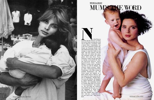 Article Preview: MUM'S THE WORD, January 1985 1985 | Vanity Fair
