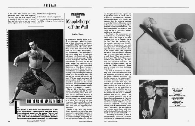 Article Preview: THE YEAR OF MARK MORRIS, January 1985 1985 | Vanity Fair