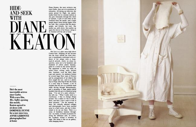 Article Preview: HIDE-AND-SEEK WITH DIANE KEATON, February 1985 1985 | Vanity Fair