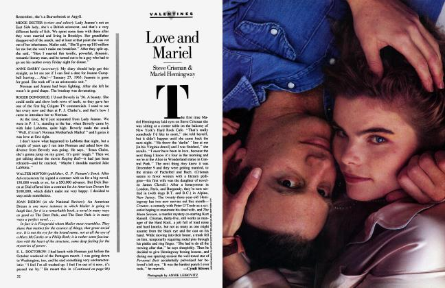 Article Preview: Love and Mariel, February 1985 1985 | Vanity Fair