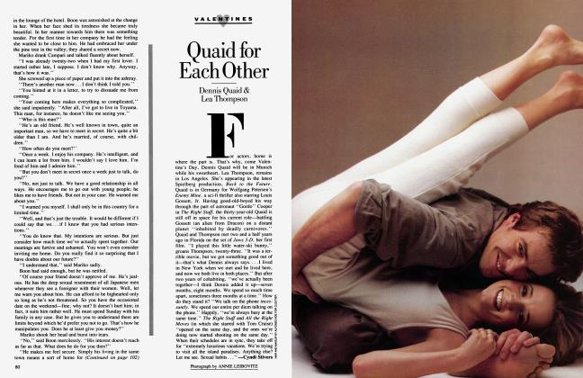Article Preview: Quaid for Each Other, February 1985 1985 | Vanity Fair