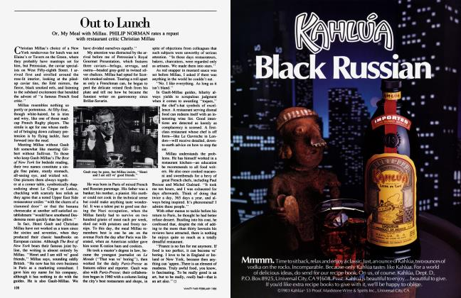 Article Preview: Out to Lunch, February 1985 1985 | Vanity Fair