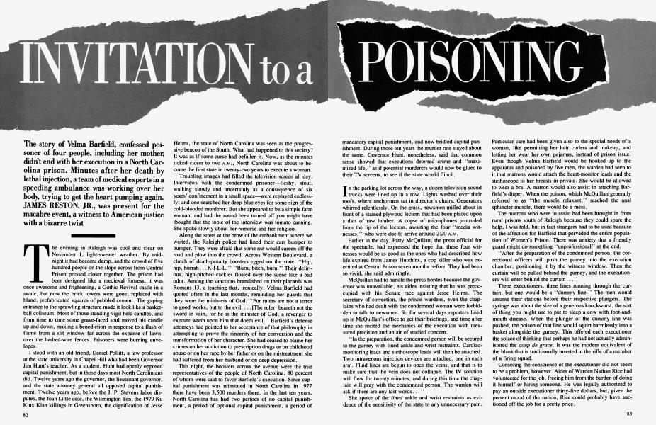 INVITATION to a POISONING