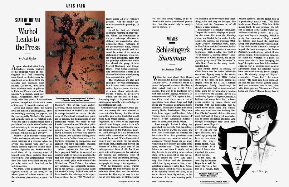 Warhol Leaks to the Press