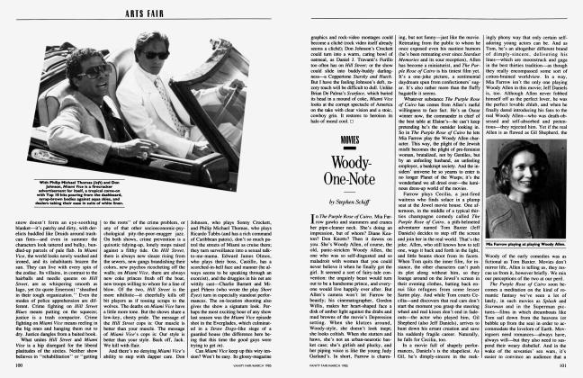 Article Preview: Woody-One-Note, March 1985 1985 | Vanity Fair