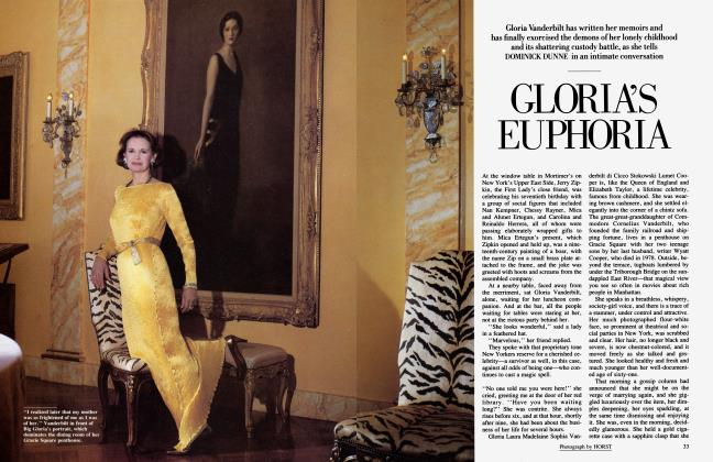 Article Preview: GLORIA'S EUPHORIA, April 1985 | Vanity Fair