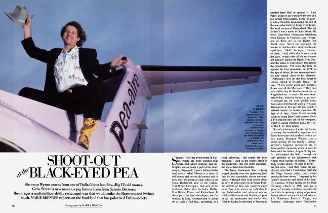 Article Preview: SHOOT-OUT at the BLACK-EYED PEA, April 1985 | Vanity Fair