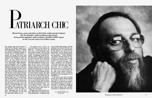 Article Preview: PATRIARCH CHIC, April 1985 1985 | Vanity Fair