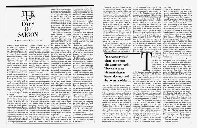 Article Preview: THE LAST DAYS OF SAIGON, April 1985 1985   Vanity Fair