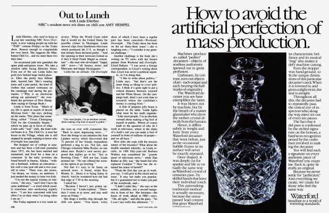 Article Preview: Out to Lunch, April 1985 1985 | Vanity Fair