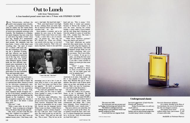 Article Preview: Out to Lunch, May 1985 1985 | Vanity Fair