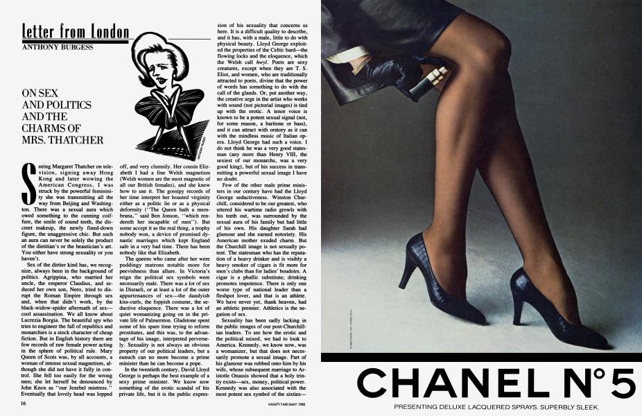 ON SEX AND POLITICS AND THE CHARMS OF MRS. THATCHER