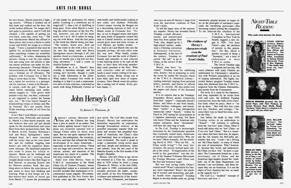 John Hersey's Call