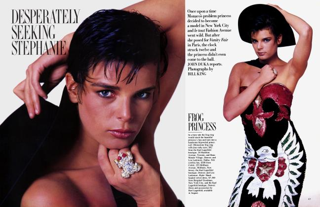 Article Preview: DESPERATELY SEEKING STEPHANIE, July 1985 | Vanity Fair