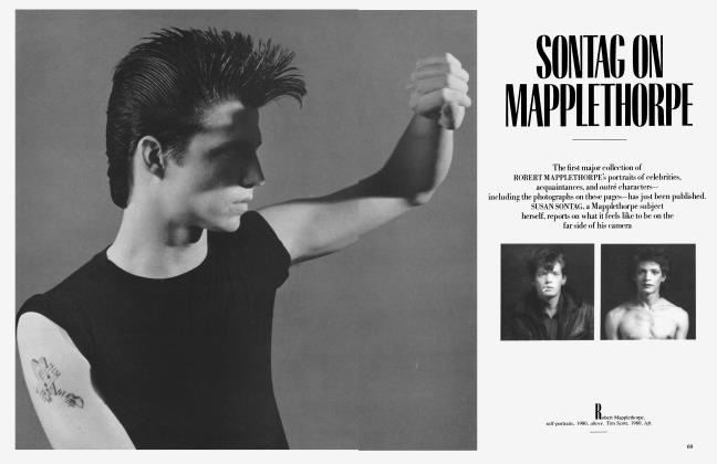 Article Preview: SONTAG ON MAPPLETHORPE, July 1985 1985   Vanity Fair