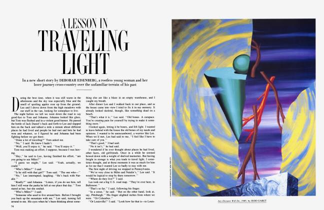 Article Preview: A LESSON IN TRAVELING LIGHT, July 1985 | Vanity Fair