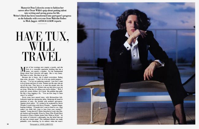 Article Preview: HAVE TUX, WILL TRAVEL, August 1985 1985 | Vanity Fair