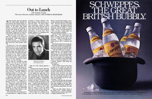 Article Preview: Out to Lunch, August 1985 1985 | Vanity Fair